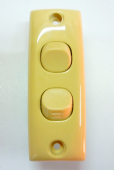 Clipsal Double Architrave Switch honey